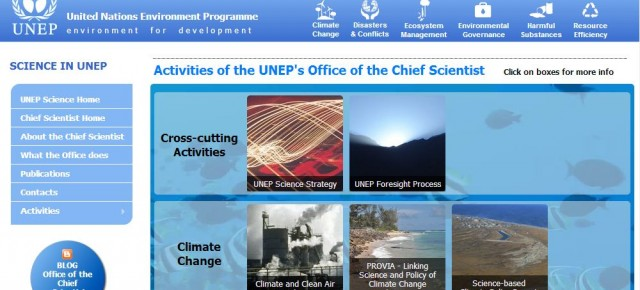 "Lanzamiento sitio ""UNEP's Office of the Chief Scientist"""