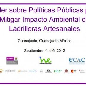 Taller sobre Políticas Públicas para Reducir Impacto Ambiental de Ladrilleras Artesanales